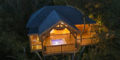 Cabane de Prestige avec Jacuzzi et Sauna privatifs