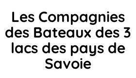 Les Compagnies des Bateaux des 3 lacs des pays de Savoie Logo