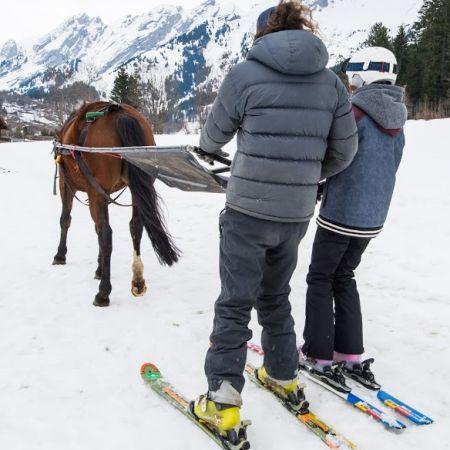 Balade Ski-joëring 2 personnes (1h)