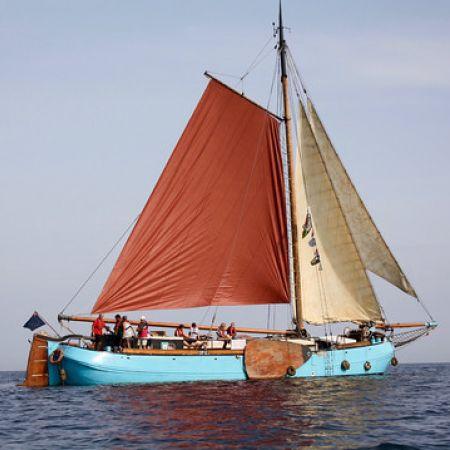 Croisière sur l'île de Groix à bord d'un Tjalk