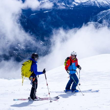 Descente à ski de la Vallée Blanche-Chamonix
