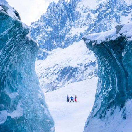 Sortie ski dans la Vallée Blanche-Chamonix