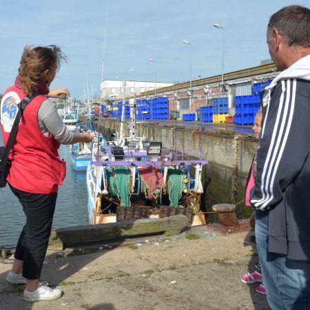 """Circuit portuaire """"La marée du jour"""". Visite du port de pêche de Lorient"""