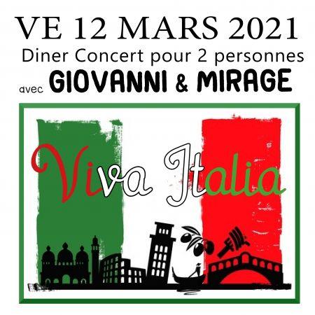 Diner Spectacle Viva italia pour 2 personnes