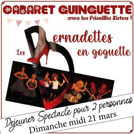 Déjeuner Spectacle Cabaret Guinguette pour 2 personnes