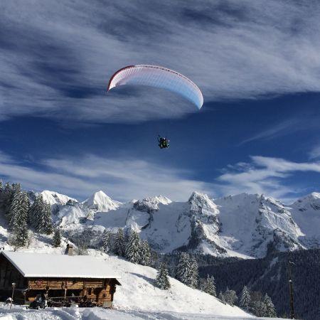 Parapente vol hiver à Courchevel