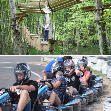 Parcours accrobranche + karting