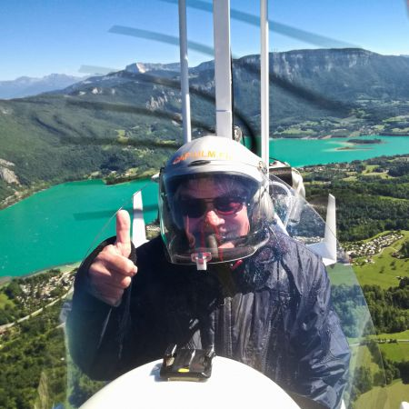 Baptême ULM dans les Alpes 45 mn - Le Circuit du Lac Bleu ( Paladru / Charavines)