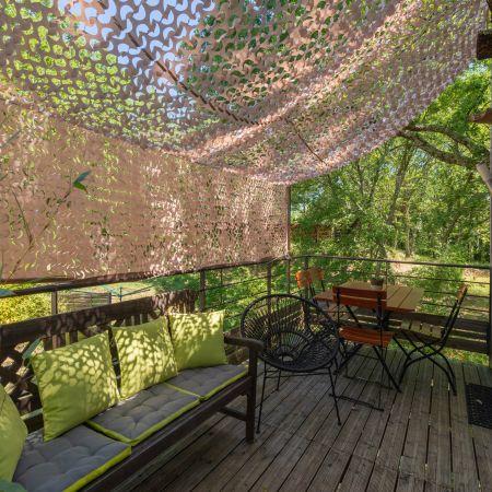 Séjour en famille dans une cabane perchée dans les arbres