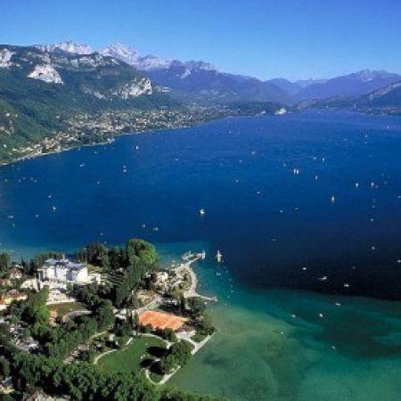 Promenade en avion : Lac d'aix-les-bains / Lac d'Annecy / Mageriaz
