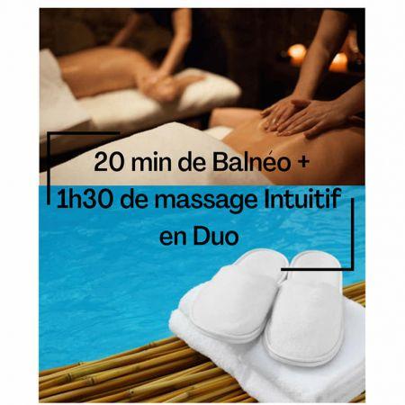 Forfait 20min de balnéo + 1h30 de massage en DUO