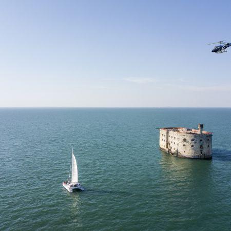 Survol en hélicoptère Fort Boyard