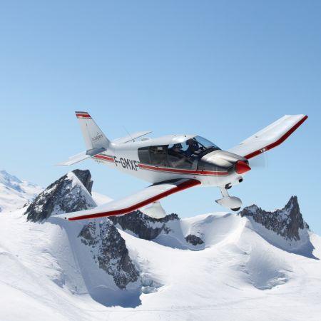 Baptême de l'air en Avion - Circuit Mont-Blanc et Glaciers (60 min)