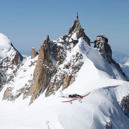 Baptême de l'air en Avion - Circuit Aravis Mont-Blanc (50 min)