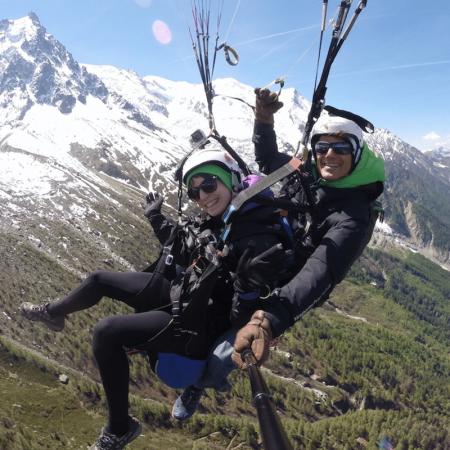 Vol parapente découverte Chamonix Plan de l'Aiguille