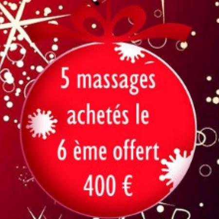 5 Massages achetés le 6ème offert