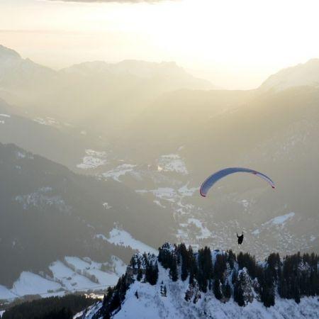 Vol à ski en Parapente Grand Bornand