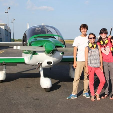 Survol de Nantes en avion