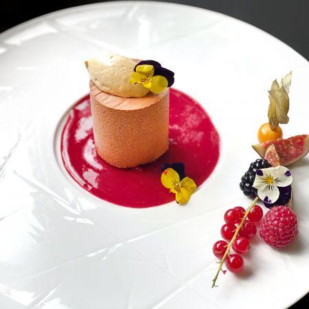 Menu Gastronome avec coupe de champagne