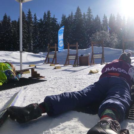 Séance de Biathlon à plombs