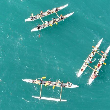 Balade de 2h en pirogue Hawaïenne ou kayak de mer. Adulte.