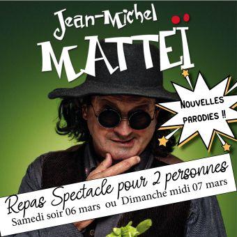 Repas spectacle Jean Michel Mattéi pour 2 personnes, boissons comprises image 1