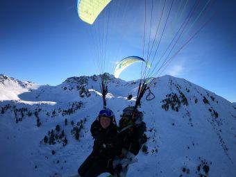 Parapente vol hiver à Courchevel image 2