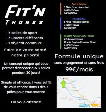 Offre Fit'n Thônes. 1 mois d'accès aux 3 centres sportifs. AQUA/FITNESS/CROSSFIT image 5