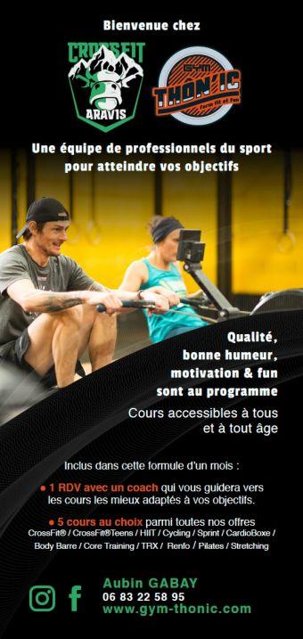 Offre Fit'n Thônes. 1 mois d'accès aux 3 centres sportifs. AQUA/FITNESS/CROSSFIT image 3