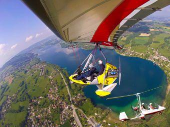 Première leçon de pilotage, une expérience unique en autogire ou en ULM pendulaire face aux Alpes et au Mont Blanc image 4