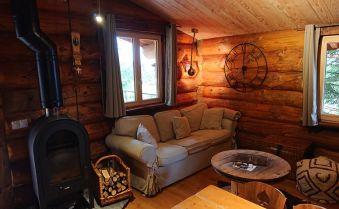 """Nuit dans une cabane en rondins type canadien """"Les 13 arbres"""" avec SPA capacité de 4 personnes image 2"""