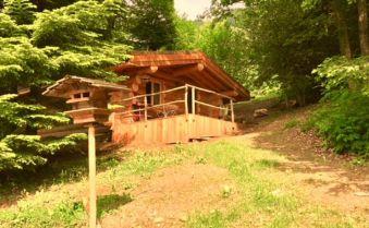 """Nuit dans une cabane en rondins type canadien """"Les 13 arbres"""" avec SPA capacité de 4 personnes image 4"""
