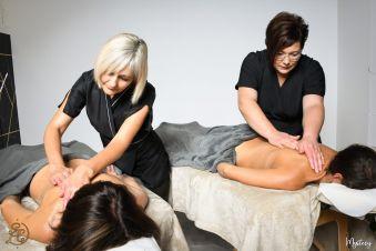 Massage Duo à l'huile chocolatée image 1