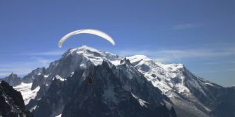Parapente Vol Long Courrier - Face au Mont Blanc image 1