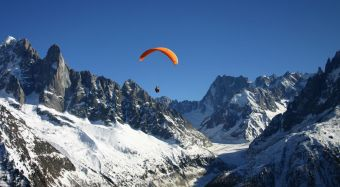 Parapente Vol Long Courrier - Face au Mont Blanc image 2