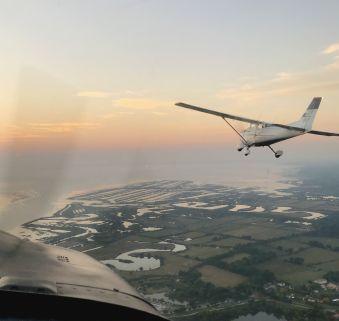 Survol en avion du bassin d'Arcachon image 1