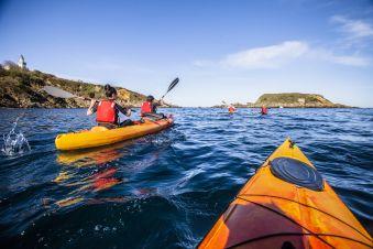 """Randonnée Journée dans les """" calanques """" Basques en kayak ou en paddle. Enfant. image 6"""