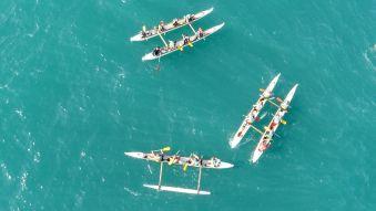 Balade de 2h en pirogue Hawaïenne ou kayak de mer. Adulte. image 1
