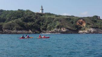 """Randonnée Journée dans les """" calanques """" Basques en kayak ou en paddle. Enfant. image 1"""