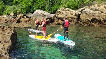 """Randonnée Journée dans les """" calanques """" Basques en kayak ou en paddle. Enfant. image 4"""